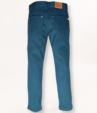 Petroleum blue trousers with 5 pockets