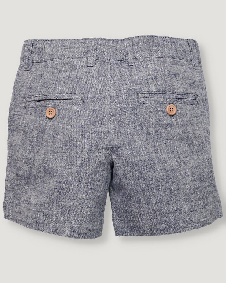 Navy blue basic boy short with button and zipper.