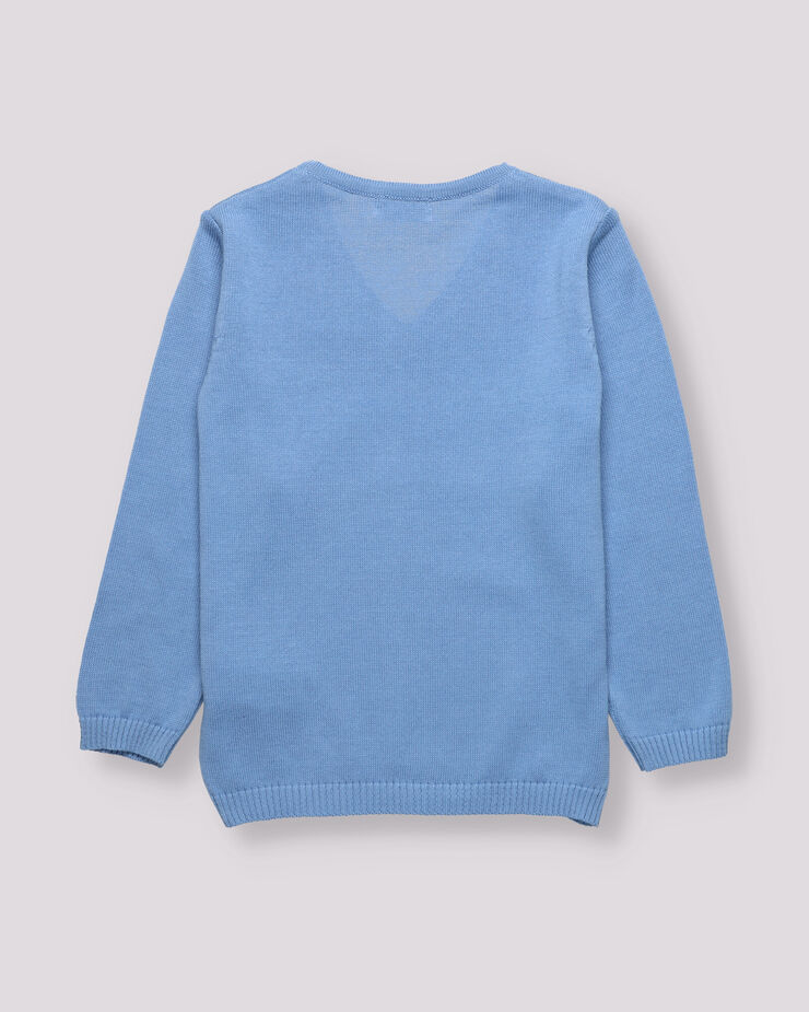 Light blue knitted jersey