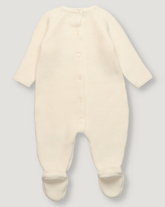 Off white baby knitted overall