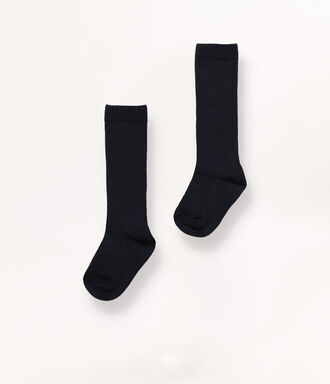Long navy socks