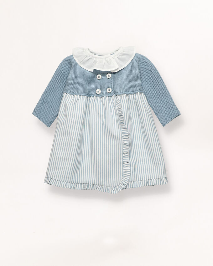 Blue contrast baby dress