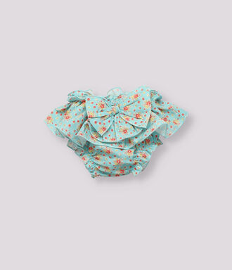 Coral flowers embroidered baby shirt