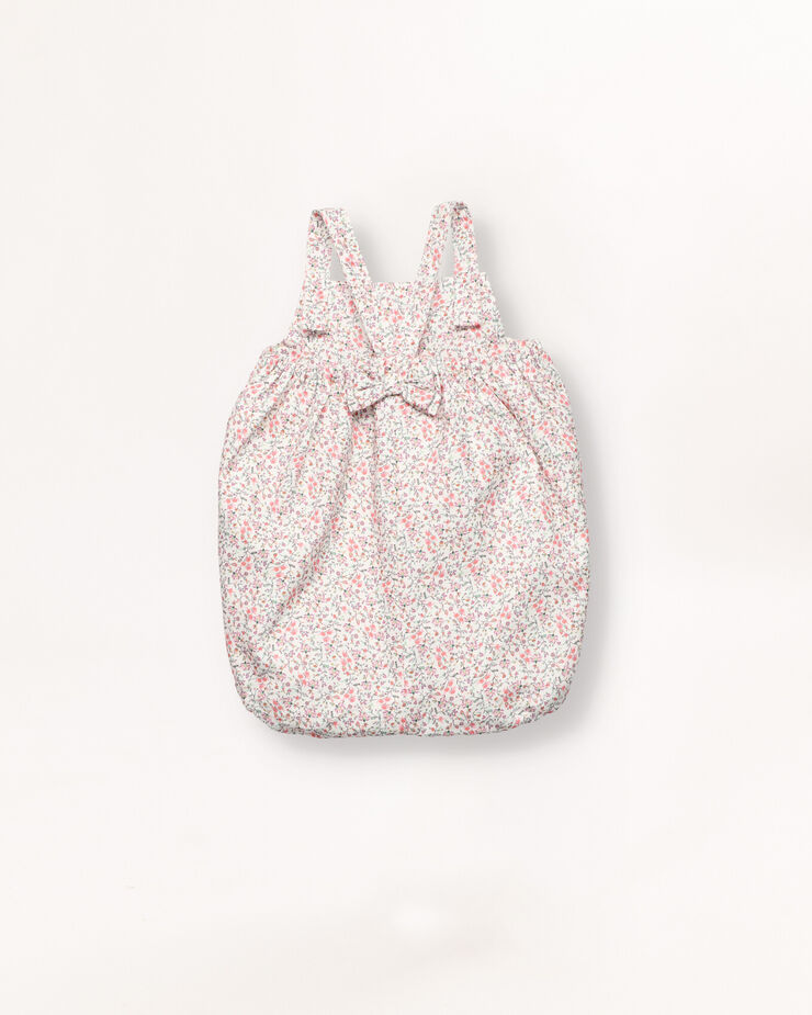 Flower baby dungarees