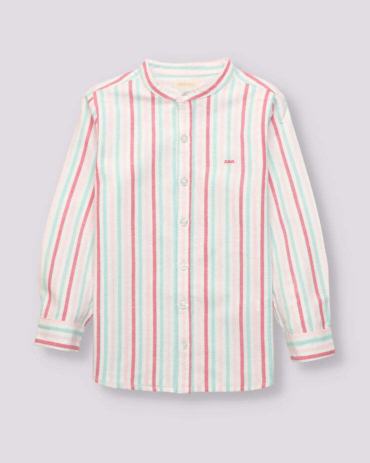 Linen pink striped shirt